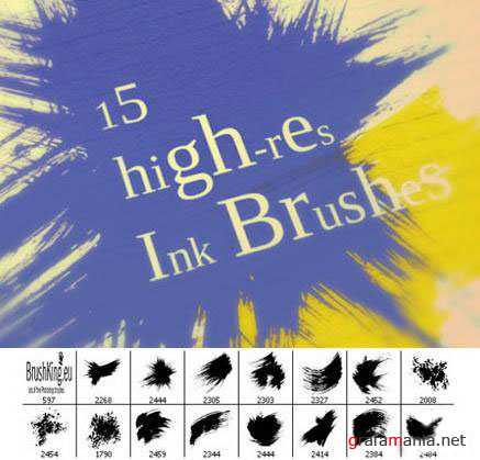 Ink Strokes Photoshop Brushes