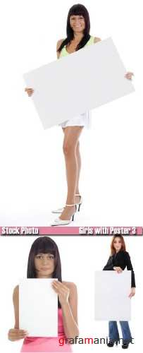 Stock Photo - Girls with poster 3