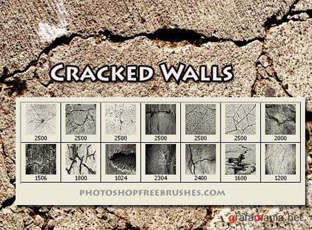 Cracked Walls Photoshop Brushes