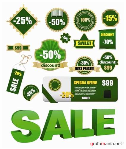 Sale & Discounts Vector