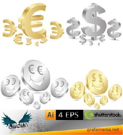 Business background with euro dollars
