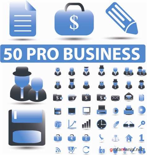 50 PRO Business Vector Icons