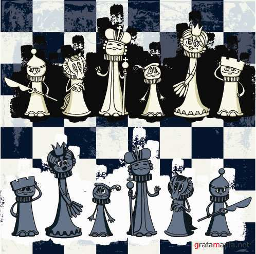 Funny Chess Vector