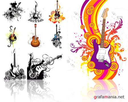 Guitars Vector Collection 4