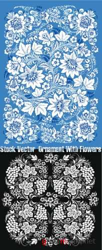 Stock Vector - Ornament With Flowers