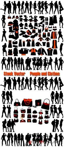 Stock Vector People and Clothes