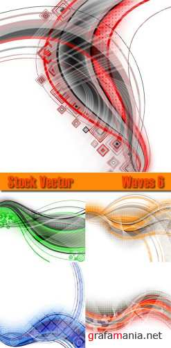 Stock Vector Waves 6