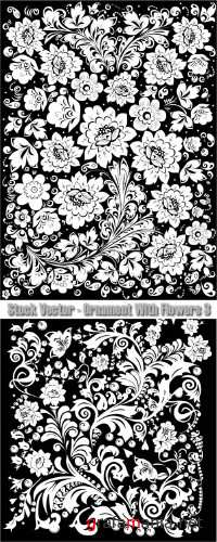 Stock Vector - Ornament With Flowers 3
