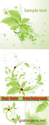 Stock Vector Green Backgrounds