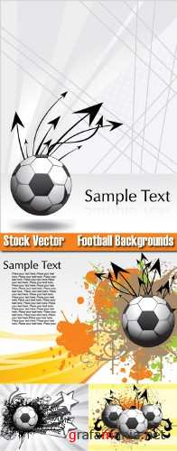 Stock Vector Football Backgrounds