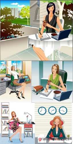 Business Girls Vectors