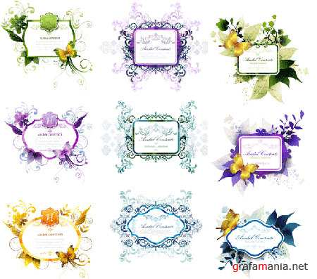 Flower Vector Frames