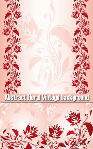Stck Vector - Abstract floral vintage background