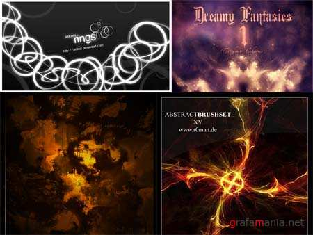 Abstract Photoshop Brushes Pack