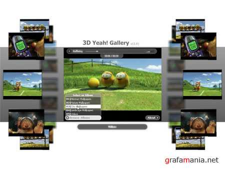 3D Yeah Gallery - Flash Template