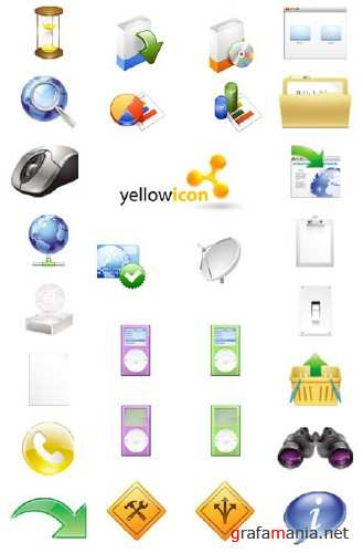 Yellow Icon Vecor Collection