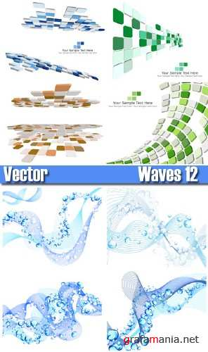 Stock Vector - waves 12