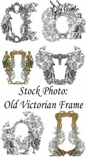Stock Photo:  Old victorian frame