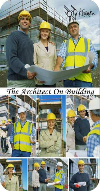 Stock Photo:  The architect on building