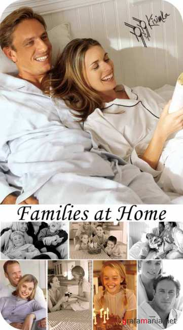 Stock Photo: Families at Home