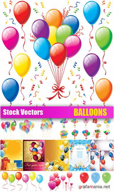 Stock Vectors - Balloons