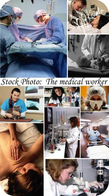 Stock Photo:  The medical worker