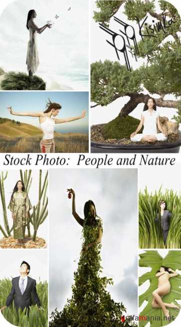 Stock Photo:  People and Nature