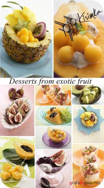 Stock Photo:  Desserts from exotic fruit