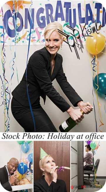 Stock Photo:  Holiday at office
