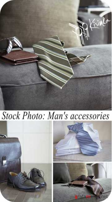 Stock Photo:  Mans accessories