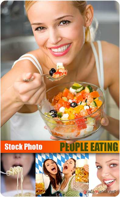 Stock Photo - People Eating