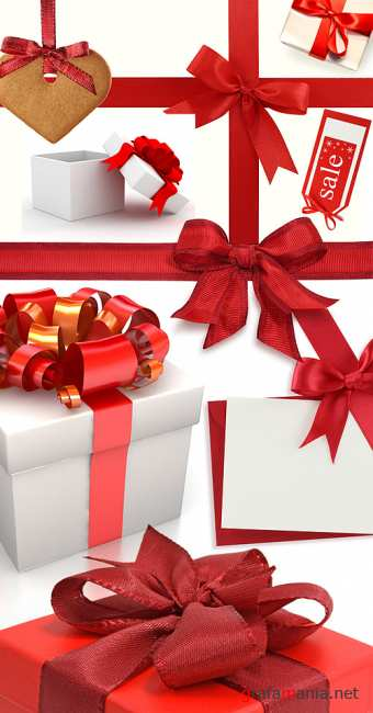 Stock Photo - Gift Boxes, Ribbons