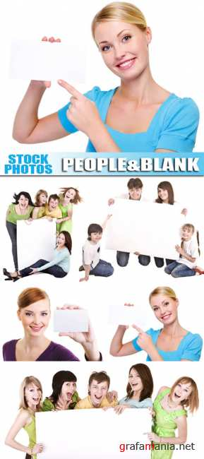 People with blank card