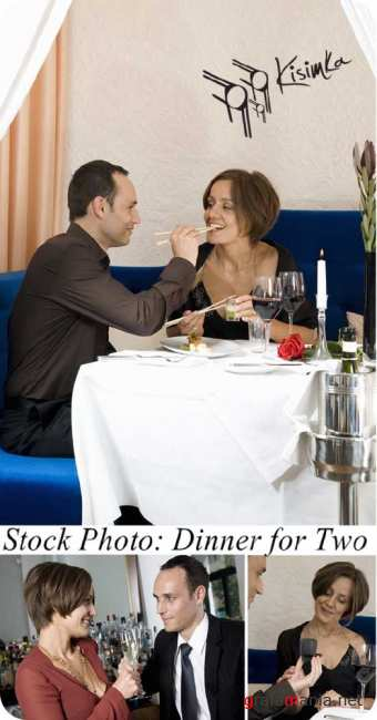 Stock Photo:  Dinner for Two