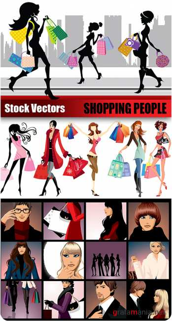 Stock Vectors - Shopping People