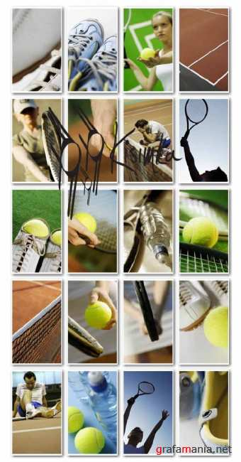Stock Photo: Tennis Accessories