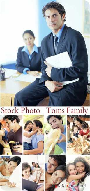 Stock Photo: Toms Family
