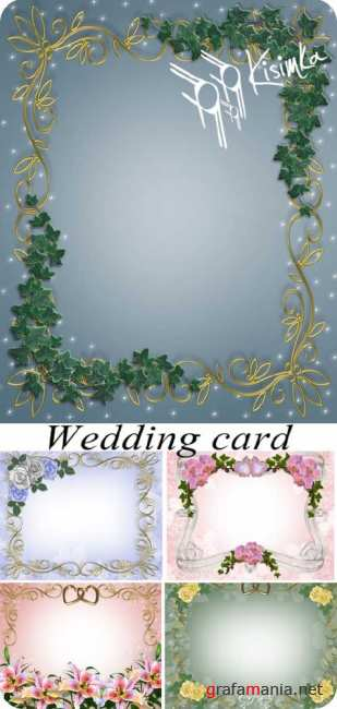 Stock Photo: Wedding card