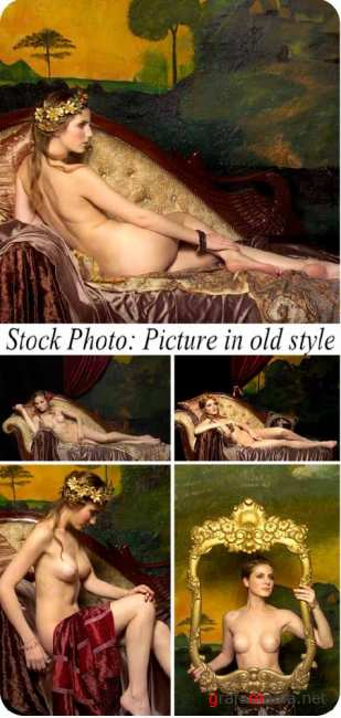 Stock Photo: Picture in old style