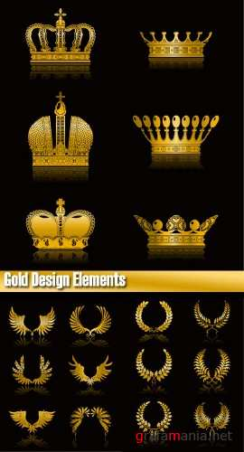 Stock Vector Gold Design Elements