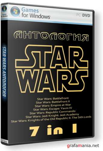 Антология Star Wars [7in1] (2006/RUS/2xDVD5)