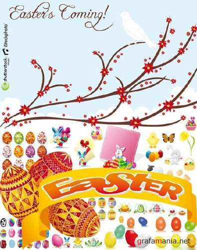 Easter is Coming Vectors
