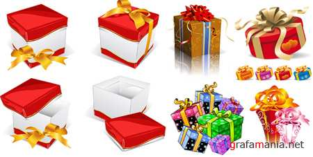 Gifts Vector Boxes 2