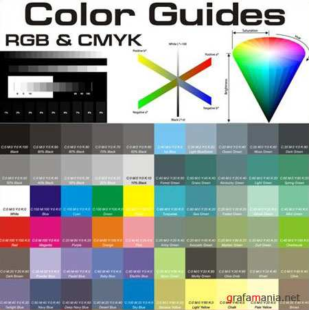 Color Guides Vectors (RGB and CMYK)