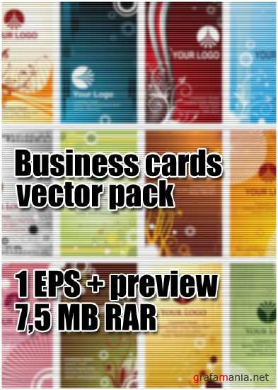 Business cards vector pack