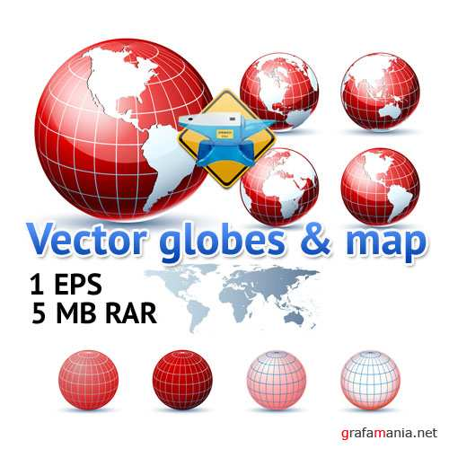 Vector globes & map