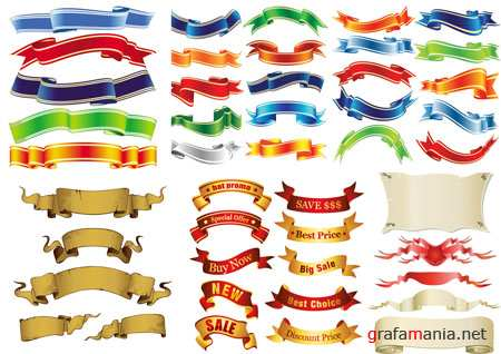Ribbons Vector Pack 2