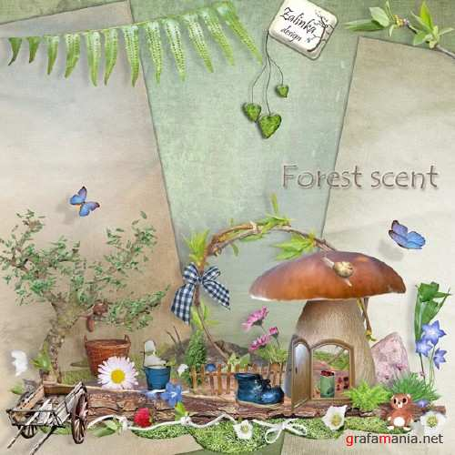 Скрап набор - Forest scent