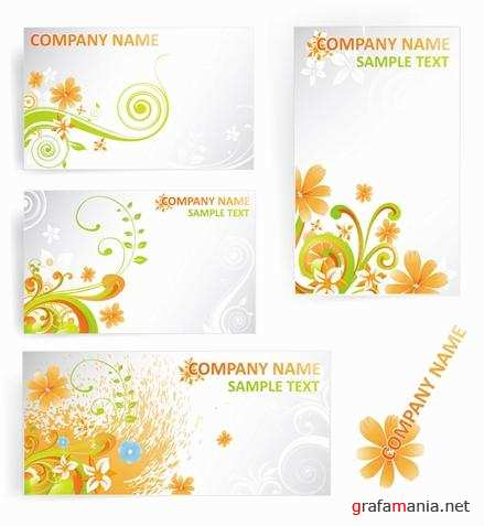 Цветочные фоны - Bright Floral Backgrounds for Cards
