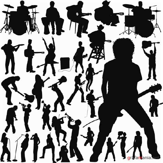 ����������� ������� - Musical Silhouettes Vector